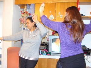 Amal and Canan dancing