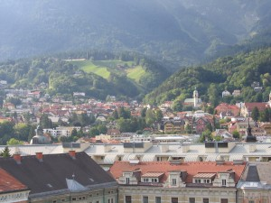 View of Innsbruck from the 360° Cafe above the City Hall