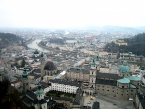 Looking down over Salzburg