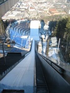 Those ski jumpers are crazy