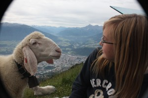 Amanda gets to know the locals high above Innsbruck