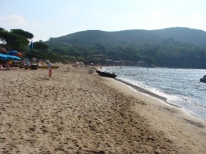 Lacona, another beach on Elba, where we spent a blissful day