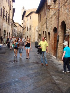 Narrow stone streets that are, thankfully, car-free.