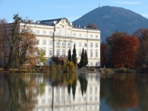 Lake and gardens used as the back of the von Trapp house.