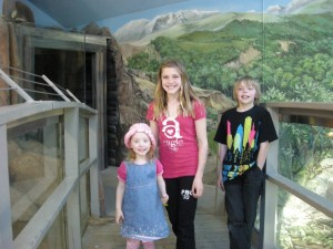 Going to the zoo with cousins Paige and Devon