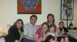 My brother Bruce's family (Sylvia, Bruce, Paige, Devon with Annie and I...and new favourite Dora doll.)