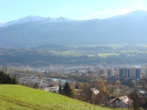Pretty Innsbruck tucked in the mountains