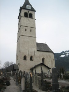 Old church and graveyard near the city center