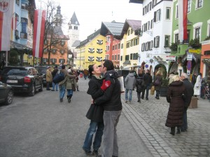 Ryan and Renata in the ancient part of town